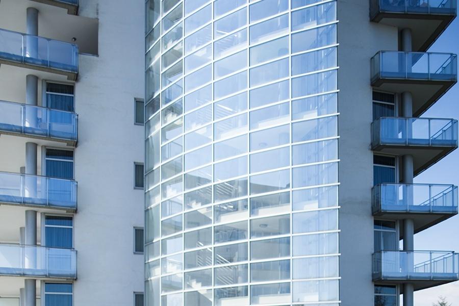 Facciate vetrate grattacielo